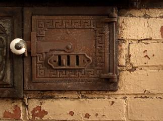 antique oven detail