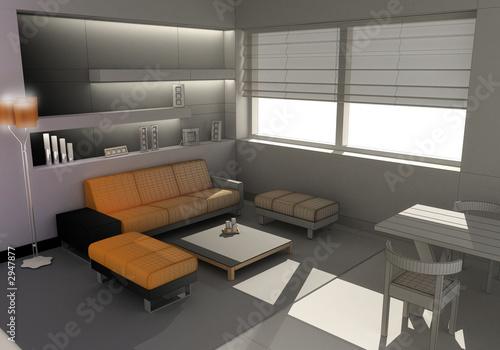 Architettura d 39 interni 3d model di giordano aita foto for Architettura 3d