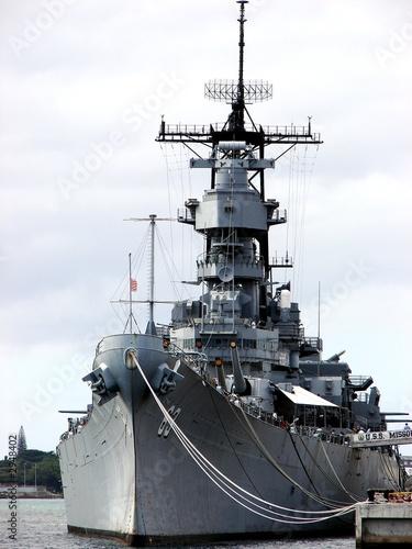 docked battleship