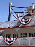riverboat smokestack & deck poster