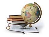 books globe and glasses - Fine Art prints