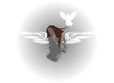 hot girl wings poster