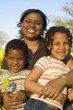 african american mother with her kids