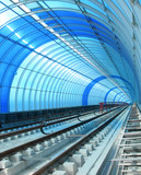 blue metro - tube tunnel poster