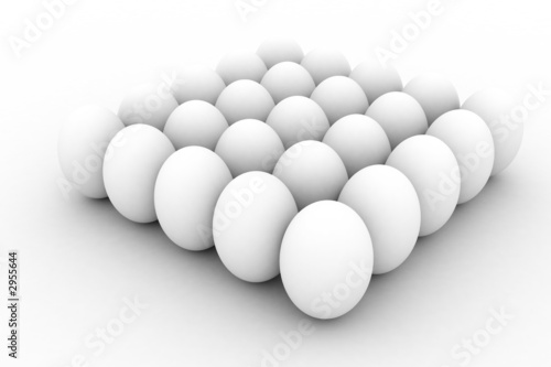 illustration - 3d image of the eggs group