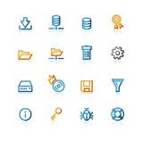 contour file server icons poster