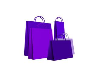 shopping bags blu