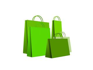 shopping bags green