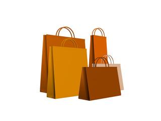 shopping bags orange