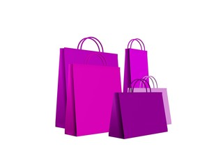 shopping bags pink