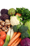 colorful healthy vegetables poster