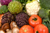 whole raw vegetables poster