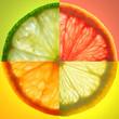 Obrazy drukowane na płótnie, fototapety, zdjęcia, fotoobrazy cyfrowe : citrus slice