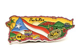 souvenir magnet of puerto rico in shape of the cou poster