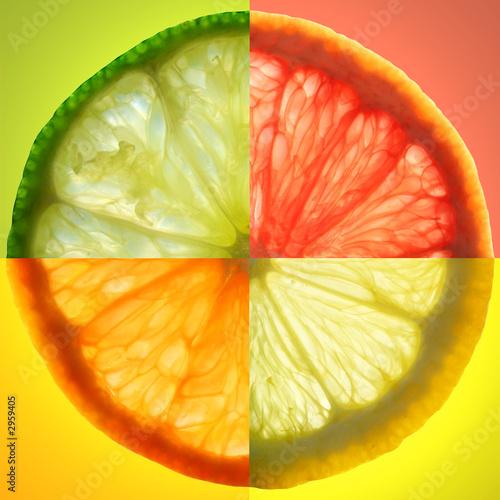 Zdjęcia na płótnie, fototapety na wymiar, obrazy na ścianę : citrus slice