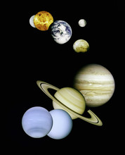 Planets in outer space.