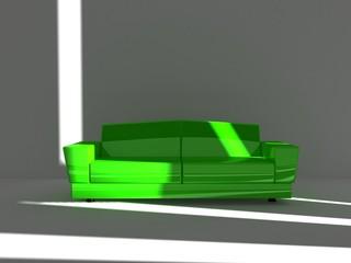 sofà green