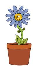 smiling pot plant