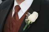 shirt, tie, vest, tux, flower poster