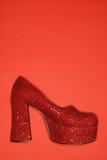 high heel shoe. poster