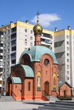 small orthodox church. poster