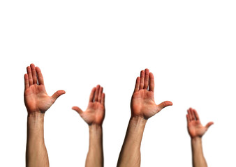 mani alzate