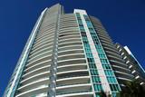 modern residential condominium in miami beach poster