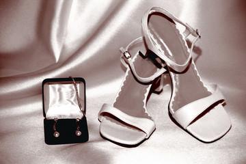 sepia bride shoes