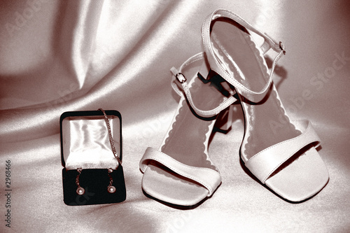 sepia bride shoes