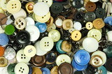 buttons and tailoring accessories background poster