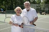active senior tennis players poster