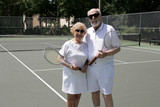 active seniors in shades poster