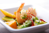 Fototapety shrimp,avocado and mango salad