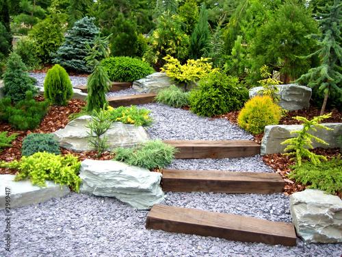 Foto op Canvas Tuin designer garden