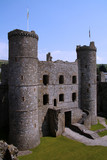 harlech castle north wales poster