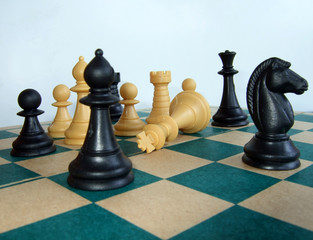 chess game – the king is dead