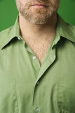 Caucasian man with open collar. poster