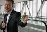 man offer money poster