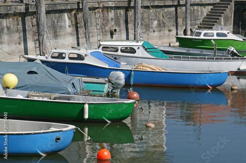 Leinwanddruck Bild fischerboote