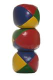 juggling balls tower poster