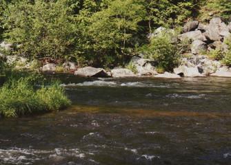 river, rocks and sunshine