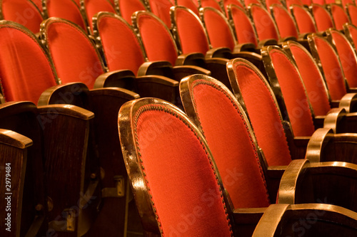 empty theater, auditorium or cinema