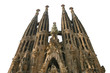 isolated sagrada familia church, barcelona, spain