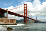 golden gate bridge from fort point, san francisco poster