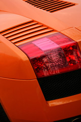 orange supercar brakelight