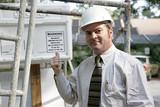 building inspector warning poster