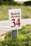Beach access on Bald Head Island, North Carolina. poster