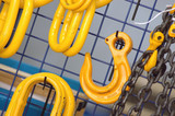 industrial chains and hooks poster