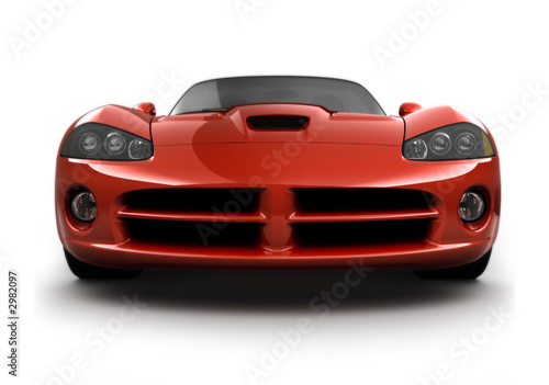 Foto op Canvas Snelle auto s front view of a fast sports car