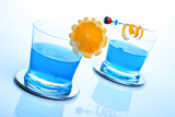blue shark cocktail poster